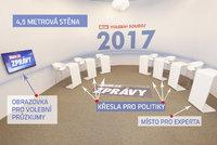 Odhaleno: Takhle vypadá aréna pro politické souboje v Blesku. První vysíláme ve středu