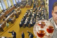 Suchý zákon pokračuje. I noví poslanci se musí při jednání obejít bez kapky alkoholu