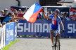 Ondřej Cink míří do cíle závodu ME v disciplíně cross country v rakouském Saalfeldenu