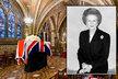 Rakev s ostatky bývalé britské premiérky Margaret Thatcherové byla dnes odpoledne před středečním pohřbem převezena do budovy parlamentu ve Westminsteru, kde byla uložena v kapli Panny Marie v kryptě budovy.