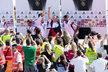 Philipp Lahm, Thomas Mueller, Sebastian Schweinsteiger a Sami Khedira před novináři po příletu do Německa