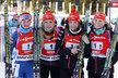 České biatlonistky vybojovaly v těžkých podmínkách druhé místo