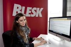 Miss Tereza Chlebovská v redakci Blesk.cz na chatu