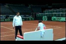 Takhle vypadal trénink české tenisové reprezentace v Praze