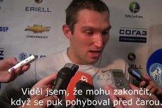Alexandr Ovečkin po zápase s HC Lev