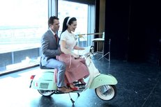 Lucka Bílá a Janek Ledecký pózovali jako ve filmu Prázdniny v Římě