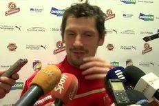 Marián Čišovský odpovídá na dotazy novinářů po prvním tréninku zimní přípravy fotbalové Plzně