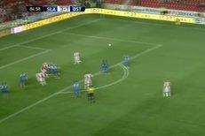 Slavia - Baník: Gól Martina Latky na 3:1