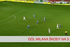 Slavia - Liberec: Gól Milana Škody na 3:1