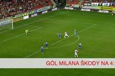 Slavia - Liberec: Gól Milana Škody na 4:1