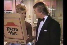 Ivana a Donald v reklamě na pizzu