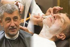 Babiš před svatbou u lazebníka: Oheň u hlavy a maskování dvojité brady!