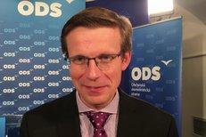 Rozhovor s místopředsedou ODS Martinem Kupkou během sčítání výsledků.