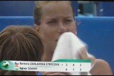 Česká tenistka Barbora Záhlavová Strýcová se pořádně rozčertila na turnaji Prague Open