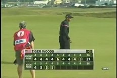 Rozčilený Tiger Woods na turnaji British Open