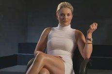 Lindsey Vonnová si zahrála na Sharon Stoneovou a jakoby jí z oka vypadla