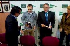 Andres Iniesta na křtu knížky Hrdinové sportu