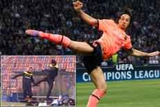 Zlatan Ibrahimovic si zase kopnul do spoluhráče