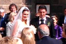 Alena Buffon-Šeredová s manželem po obřadu