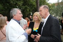 Hanka Zagorová s manželem bývalým (vlevo) a současným.