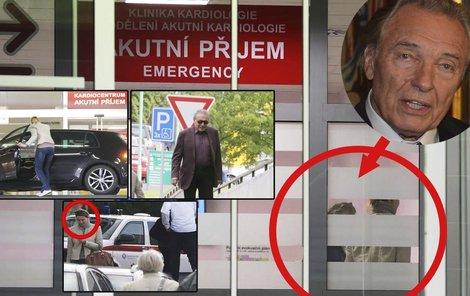 Karel Gott byl dnes v pražském IKEMu.