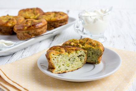 Slané cuketové muffiny