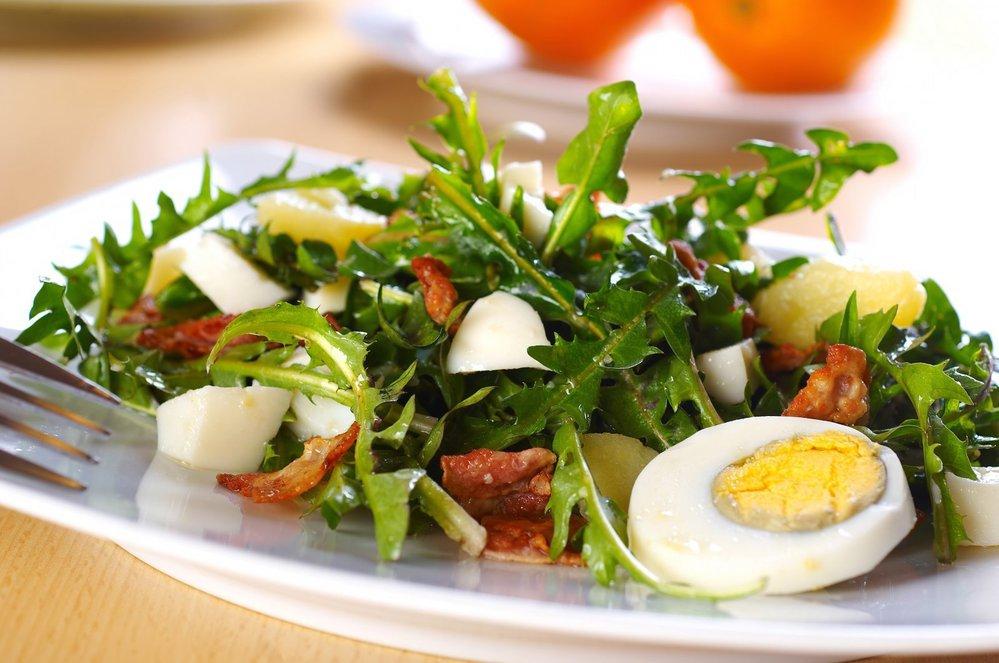 Salat rukola vejce