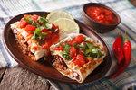 Tortilly s masovou náplní