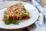 Bramborová omeleta s pancettou a sušenými rajčaty