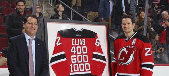 Devils před zápasem ocenili Eliáše.