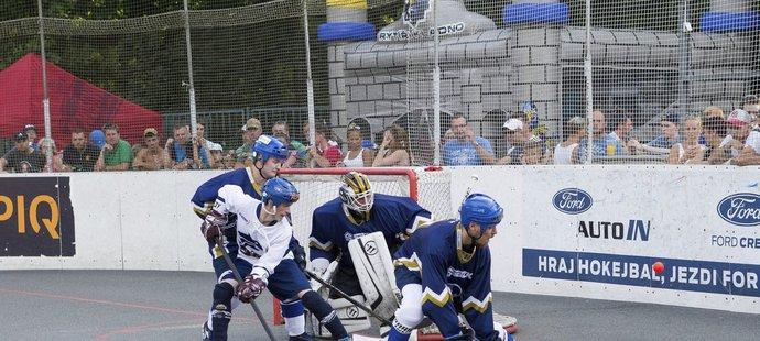 Souboj hokejistů a hokejbalistů ovládl favorit.