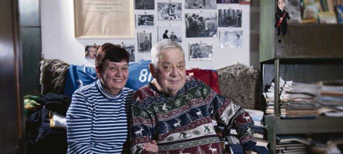 Karol Polák se svojí manželkou