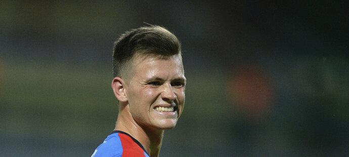 Egon Vůch v plzeňském dresu. Po svém přestupu z Teplic ale za Viktorii odehrál jen šest zápasů.