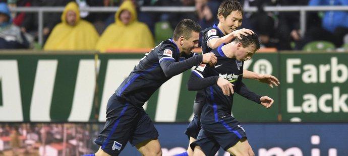 Český reprezentant Vladimír Darida se zapsal opět mezi bundesligové střelce. Jeho Hertha vedla na půdě Brém po jeho zásahu 1:0.