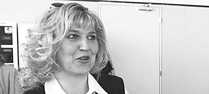 Manželka hokejového kouče Vladimíra Růžičky Eva v roce 2003