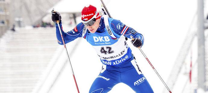 Ondřej Moravec ve sprintu na MS pod slavným můstkem v Holmenkollenu