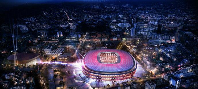 Vizualizace nového stadionu fotbalové Barcelony, kapacita zmodernizovaného Camp nou by měla být 105 tisíc fanoušků