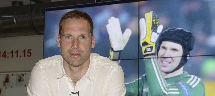 Petr Čech během návštěvy redakce deníku Sport a iSport.cz