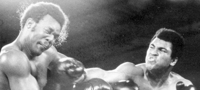 Muhammad Ali v souboji s Foremanem
