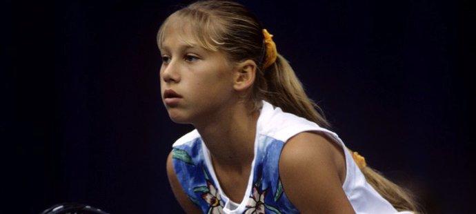 Anna Kurnikovová na počátku své kariéry
