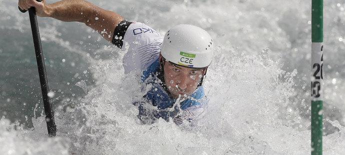 Vítězslav Gebas v kvalifikaci kanoistů na olympiádě v Riu