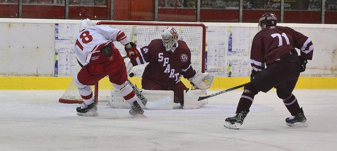 Hokejisté Sparty se střetli v přípravě v derby s prvoligovou Slavii