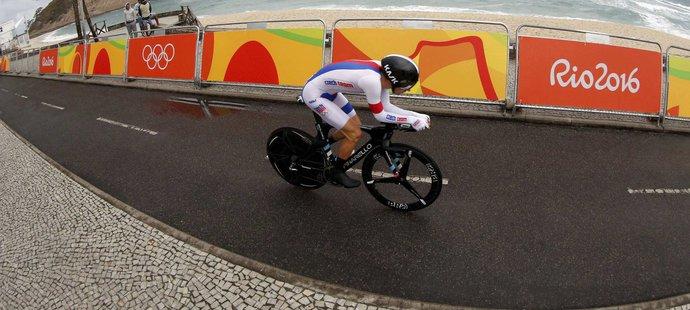 Leopold König na trati olympijské časovky