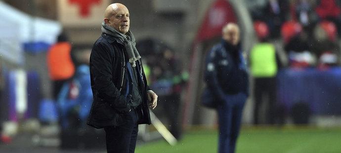 Trenér české reprezentace Karel Jarolím zažil proti Norsku první soutěžní výhru