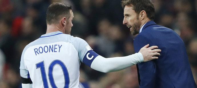 Rooney se přimluvil za Southgatea