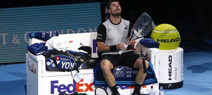 Stan Wawrinka se utkáním s Murraym protrápil