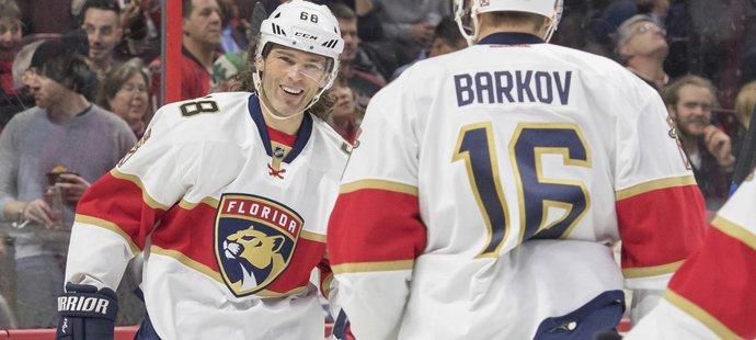 Jaromír Jágr ukončil po třinácti zápasech čekání na gól, přidal dvě asistence a přispěl k výhře hokejistů Floridy 4:1 na ledě Ottawy.