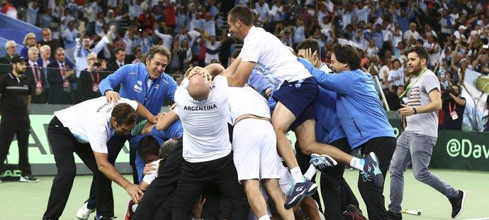 Obrovská radost argentinského týmu