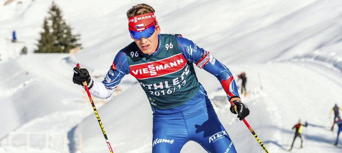 Adam Václavík při tréninku na MS v Hochfilzenu