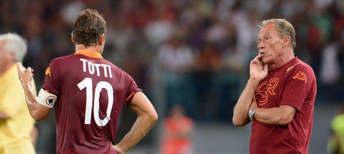 Francesco Totti a Zdeněk Zeman